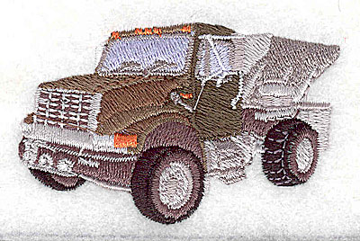 Embroidery Design: Dump truck 2.69w X 1.69h