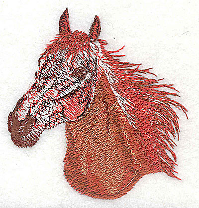 Embroidery Design: Horse head 3.13w X 3.25h