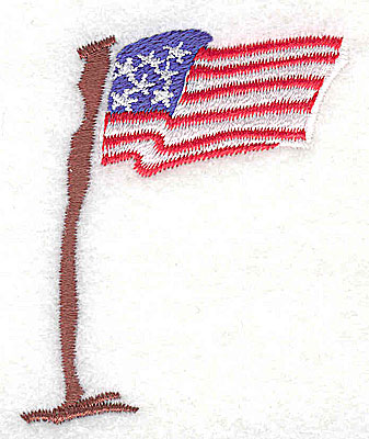 Embroidery Design: American flag 2.06w X 2.44h