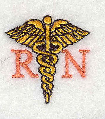 Embroidery Design: RN symbol 1.19w X 1.25h