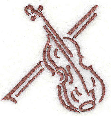Embroidery Design: Violin with bow 2.00w X 2.06h