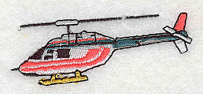 Embroidery Design: Helicopter 2.50w X 0.94h