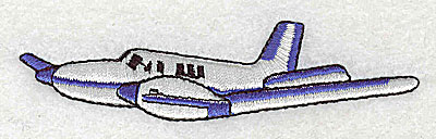 Embroidery Design: Airplane 3.56w X 0.94h