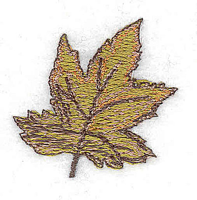 Embroidery Design: Fall leaf 1.38w X 1.31h