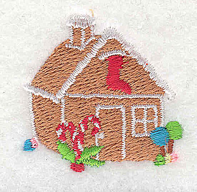 Embroidery Design: Gingerbread house 1.50w X 1.44h