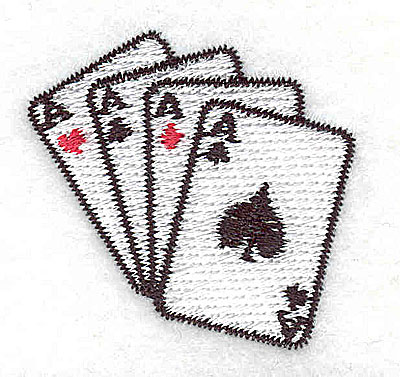 Embroidery Design: Cards Aces 1.69w X 1.63h