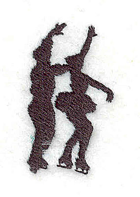Embroidery Design: Figure skaters dance 0.81w X 1.44h