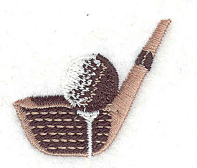 Embroidery Design: Golf club with ball 1.56w X 1.44h