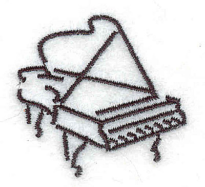 Embroidery Design: Grand Piano 1.50w X 1.44h