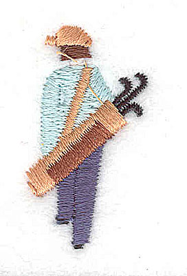 Embroidery Design: Female golfer 0.81w X 1.44h