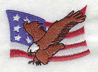 Embroidery Design: U.S. flag with eagle 2.00w X 1.44h