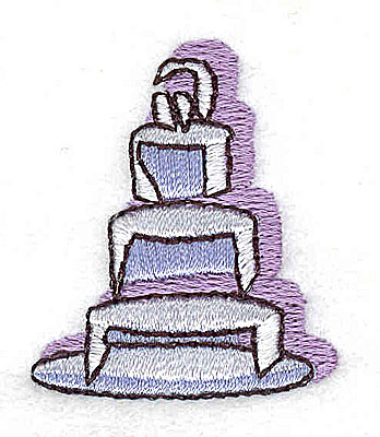 Embroidery Design: Wedding Cake 1.31w X 1.50h