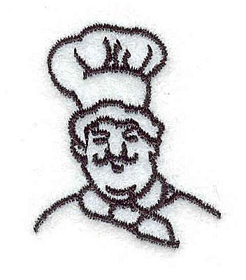 Embroidery Design: Italian Chef 1.19w X 1.44h