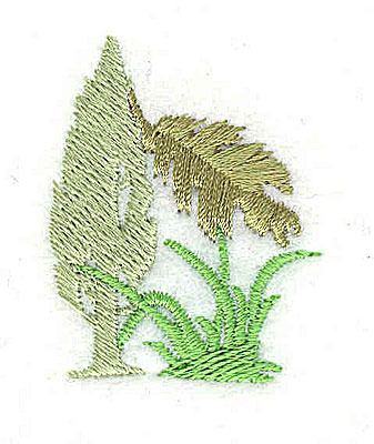 Embroidery Design: Tree leaf and grasses 1.13w X 1.44h