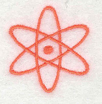Embroidery Design: Atomic Energy symbol 1.25w X 1.31h