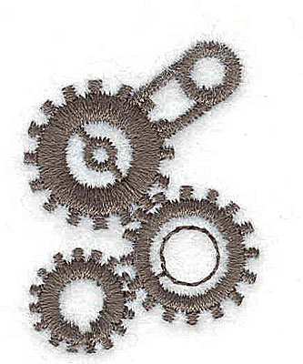 Embroidery Design: Cogs and wheels 1.06w X 1.44h