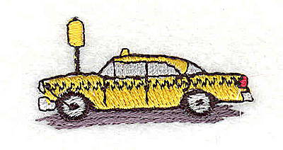 Embroidery Design: Taxi cab 1.56w X 0.75h