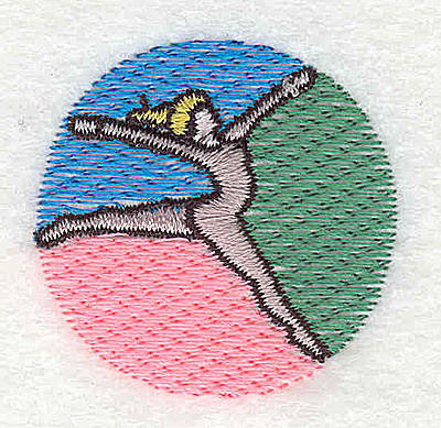 Embroidery Design: Gymnast 1.50w X 1.44h