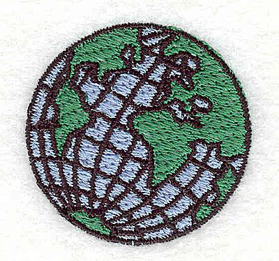 Embroidery Design: World Globe 1.44w X 1.44h