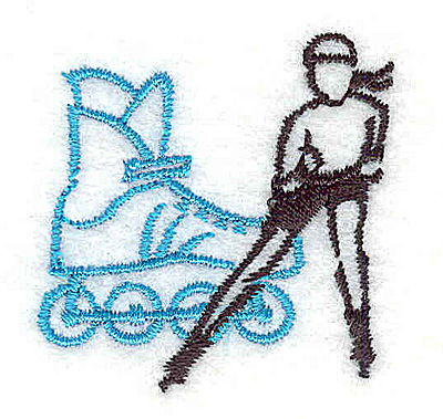 Embroidery Design: Rollerblading 1.44w X 1.44h