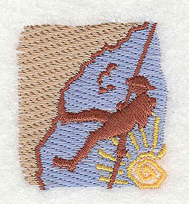 Embroidery Design: Rock Climber 1.38w X 1.50h