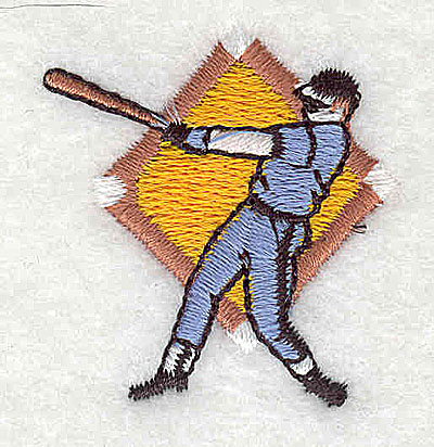 Embroidery Design: Baseball player 1.38w X 1.50h