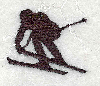 Embroidery Design: Skier 4.56w X 1.44h