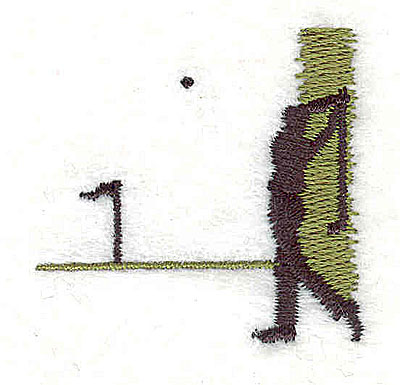 Embroidery Design: Golfer swinging 1.50w X 1.44h
