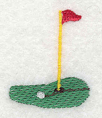 Embroidery Design: Golf green  1.25w X 1.56h