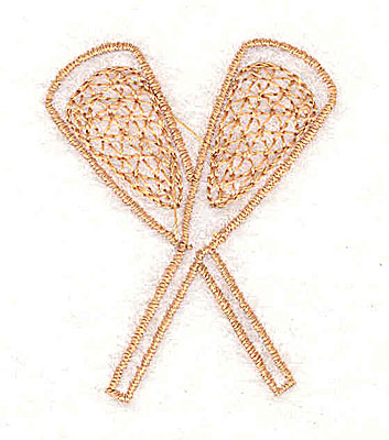 Embroidery Design: Crossed lacrosse sticks 1.38w X 1.69h