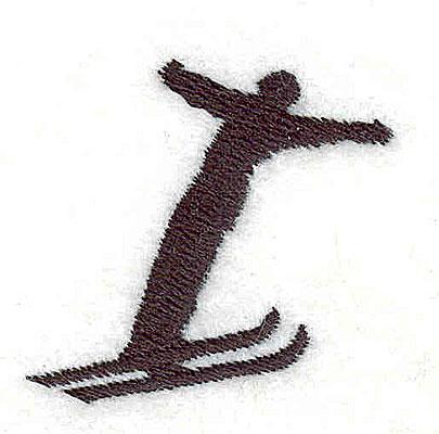 Embroidery Design: Ski jumper 1.38w X 1.31h