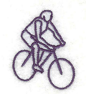 Embroidery Design: Cyclist 1.13w X 1.44h