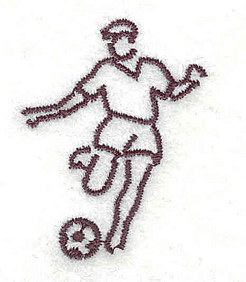Embroidery Design: Soccer player 1.13w X 1.50h