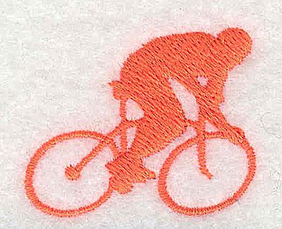 Embroidery Design: Cyclist 1.44w X 1.19h