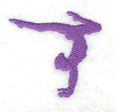 Embroidery Design: Gymnast 1.38w X 1.31h
