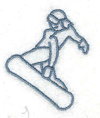 Embroidery Design: Snowboarder 1.38w X 1.69h
