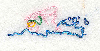 Embroidery Design: Swimmer 2.00w X 0.75h