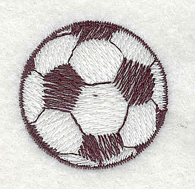 Embroidery Design: Soccer ball 1.31w X 1.31h
