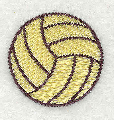 Embroidery Design: Volleyball 1.25w X 1.38h