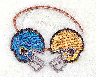 Embroidery Design: Football with helmets 1.50w X 1.31h