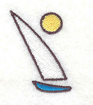 Embroidery Design: Sailboat 1.06w X 1.44h
