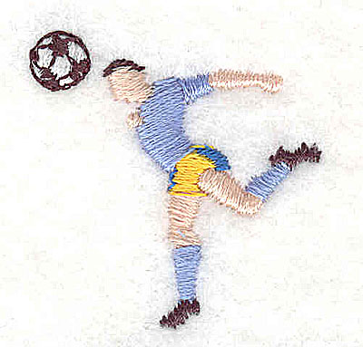 Embroidery Design: Soccer player 1.31w X 1.31h