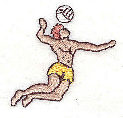 Embroidery Design: Volleyball player 1.69w X 1.63h