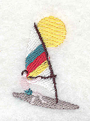 Embroidery Design: Windsurfer 1.00w X 1.38h
