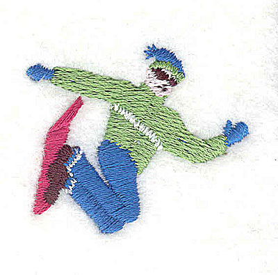 Embroidery Design: Snowboarder 1.50w X 1.25h