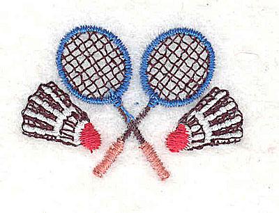 Embroidery Design: Badminton raquets and birdies 1.50w X 1.06h