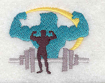 Embroidery Design: Body builder 1.56w X 1.31h