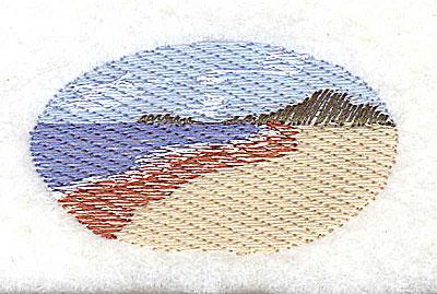 Embroidery Design: Beach scene 2.19w X 1.19h