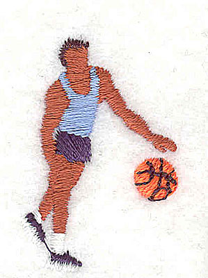 Embroidery Design: Basketball Player 1.00w X 1.50h