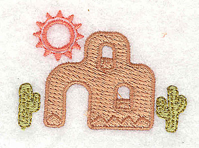 Embroidery Design: Adobe house 1.94w X 1.38h